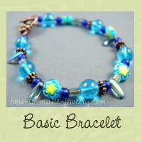 How to make a basic bracelet with this beading and string jewelry DIY tutorial on How-to-Make-Jewelry.com