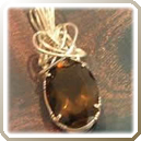 Gemstone Pendant with Wire Wrapped Prongs