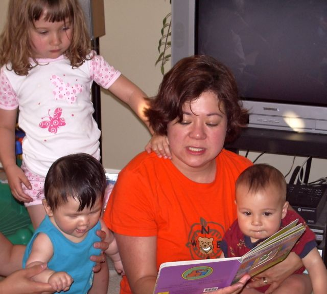 Reading With My Kids and Niece