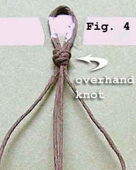 overhand knot for hemp and macrame jewelry