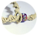 overhand knot clasp and bead closure example