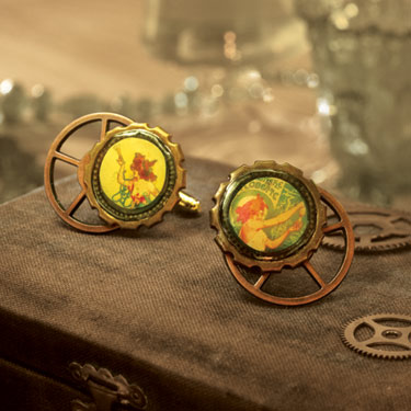 Green Fairy Cufflinks