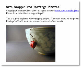 Wrapped pod earring tutorial
