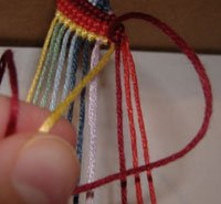Zig Zag Friendship Bracelet - Backward Knots