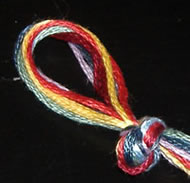 Zig Zag Friendship Bracelet - Beginning Knot