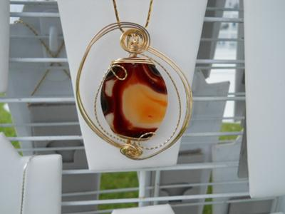 14k Rolled Gold Wire Sculpted Pendant