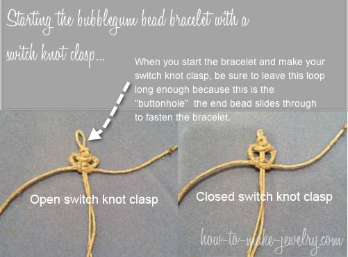 Switch knot clasp open and closed