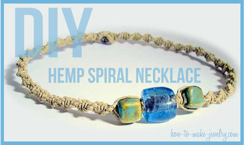 DIY Hemp Spiral Necklace