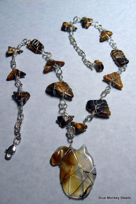 Tiger Eye Stones with Pendant