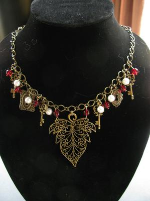 Filigree Leaf Necklace