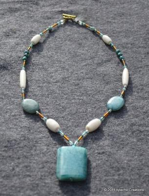 Apatite and Bone Necklace