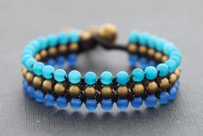 Hand Knotted Bead Bracelet