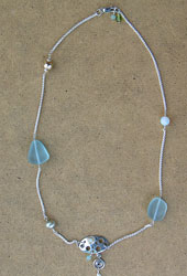 A beautiful necklace created by Reatha.