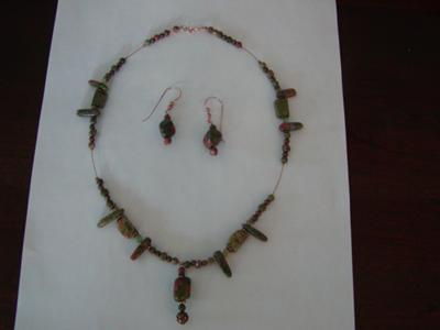 Unakite with Copper
