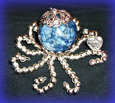 Druzy Blue Octopus Beauty