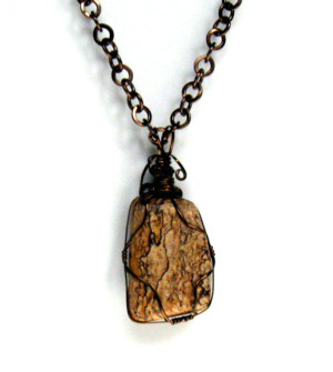Wire Wrapped Picture Jasper