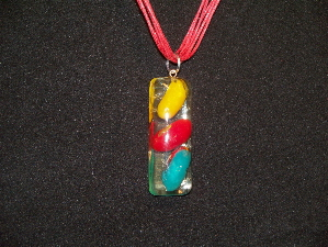 Resin Jelly Bean Pendant