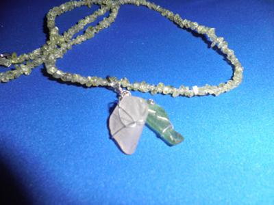 Sea Glass and Peridot Necklace