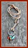 Metal Compenet with Bead Charms