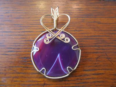 Wire wrapped pendants this is my favorite it took over 8 feet of wire aloadofball Images
