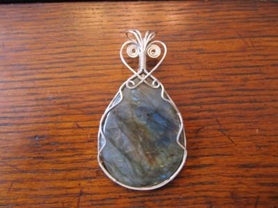 Wire wrapped pendants labordite in sterling aloadofball Image collections