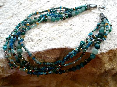 5-Strand Necklace with Sterling Silver