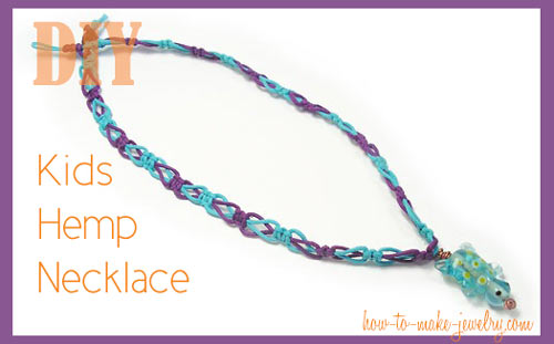 DIY Kids Hemp Necklace