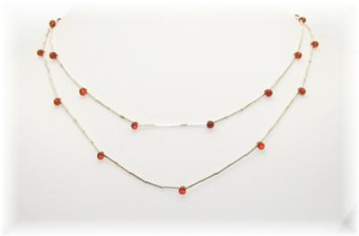 Liquid Silver and Amber Jewelry