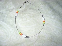 This anklet is very bright, I love the use of such bright colors.