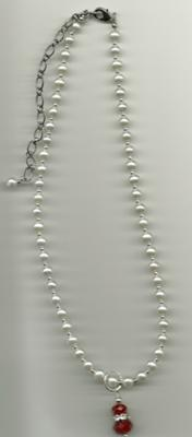 Flower Girl - pearls with removable pendant