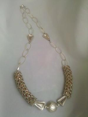 The full sterling silver necklace.