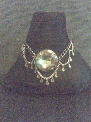 This is the lovely crystal and chain necklace.